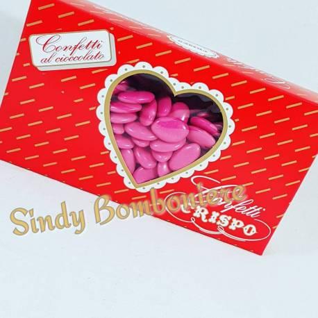 CONFETTI cioccolato fucsia CRISPO 1kg confettata per eventi Apri festa bomboniere laurea