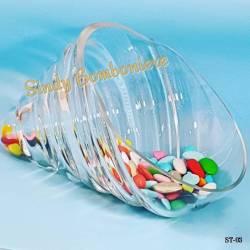 CONCHIGLIA CONTENITORE PORTA CONFETTI in vetro per ogni evento confettata