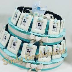 TORTA BOMBONIERA portafoto bimbo culla compleanno battesimo nascita