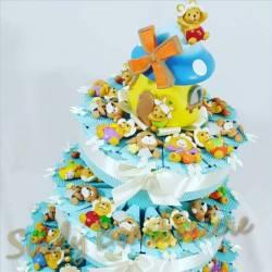 Bomboniere nascita battesimo primo compleanno animaletti misti magnete casetta bimbo