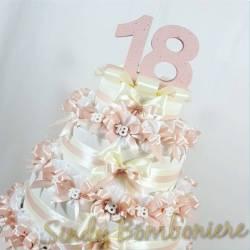 TORTA BOMBONIERA sacchettini per 18esimo diciottesimo compleanno RAGAZZA con gessetto