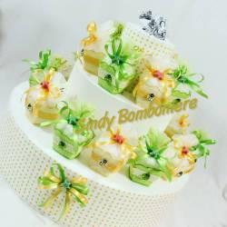 Bomboniere scatoline porta confetti colorate per compleanno battesimo stella marina GATTINONI