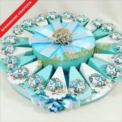 BOMBONIERE porta confetti nascit compleanno battesimo COCCINELLE per confezionare spedizione inclusa