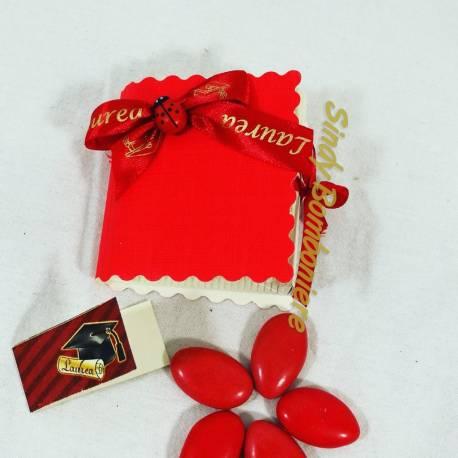 Scatoline portaconfetti laurea con coccinella