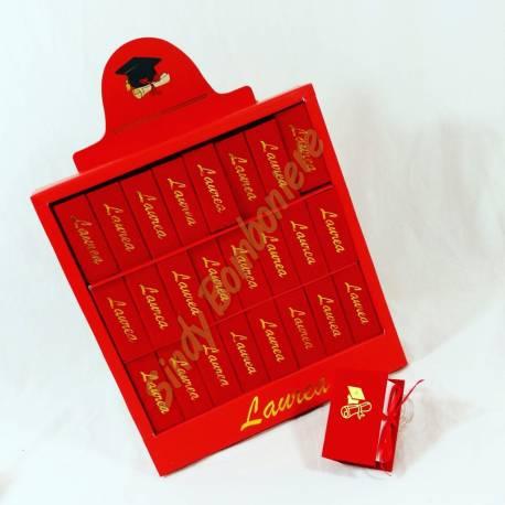 portaconfetti bomboniere laurea scatolina a libro con libreria per  confezionare ricordini di laurea 39054bd2833d