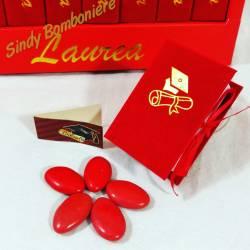 scatoline per confetti libri con libreria originali bomboniere laurea