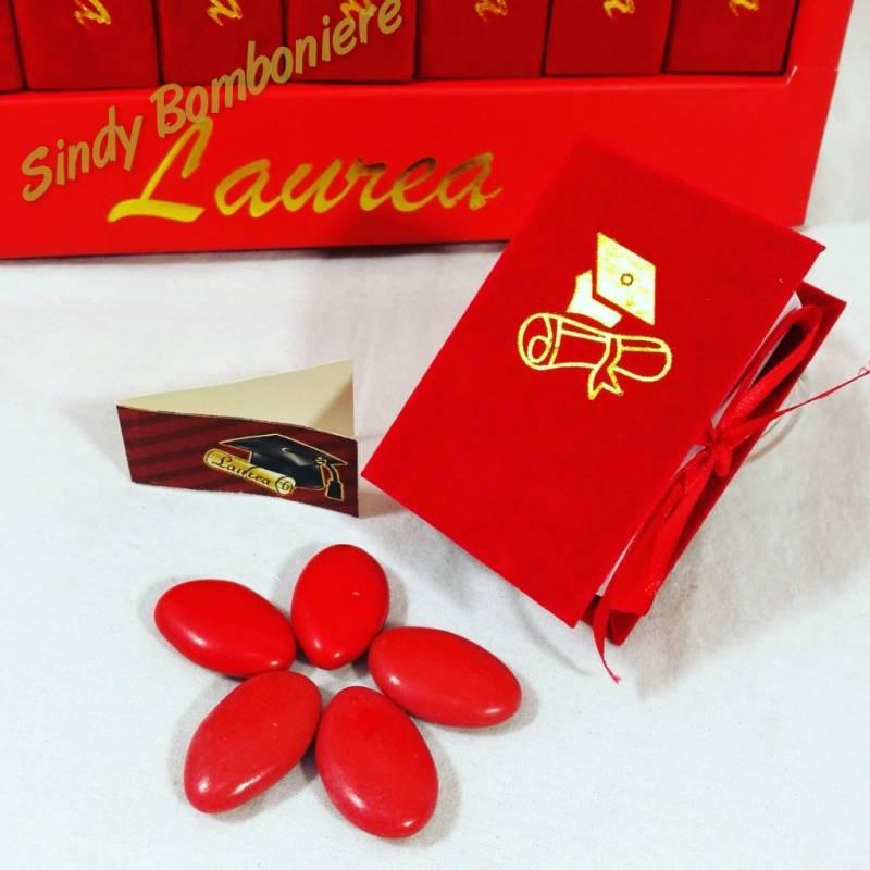 Ben noto scatoline per confetti libri con libreria originali bomboniere laurea CT68