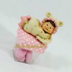 SCATOLINE PORTACONFETTI ROSA BIMBA con tutina orsetto dolcissima  per confezionare bomboniere