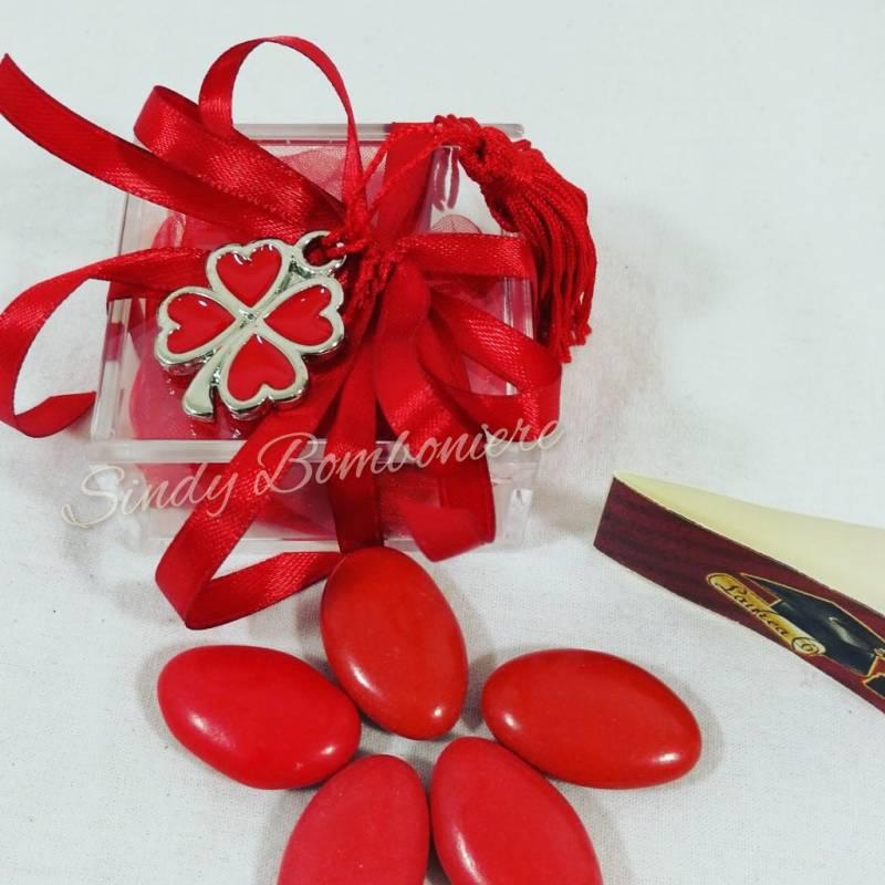 Popolare Bomboniera laurea porta confetti scatolina pexiglass con  RJ06