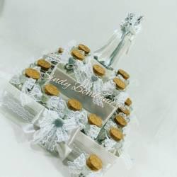 Bomboniere segnapsto torta vasetti ad anfora matrimonio anniversario decorati con nastrino