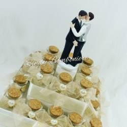 Torte bomboniere matrimonio gay omosessuali uomini vasetti confetto + bigliettino