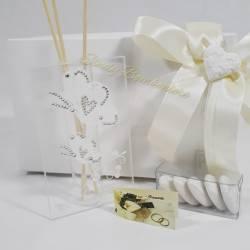 Profumatore in vetro decorato con strass farfalle CARLO PIGNATELLI LINEA SILVIA