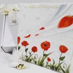 Quadro con papaveri rossi in avoriolina dipinto CARLO PIGNATELLI LINEA STEFANIA