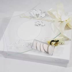 Piatto in vetro con farfalle e strass CARLO PIGNATELLI LINEA SILVIA