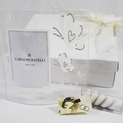 Cornice portafoto in vetro decorato con farfalle e strass CARLO PIGNATELLI LINEA SILVIA