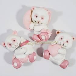 Magneti panda rosa cuore biberon cuscino CUOREMATTO per FAI DA TE