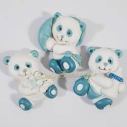 Magneti panda celeste assortiti CUOREMATTO per FAI DA TE