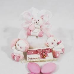 Sacchetto portaconfetti con magnete panda rosa CUOREMATTO FAI DA TE