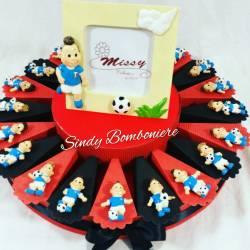 Torta bomboniera CALCIATORI magnete MILAN per nascita battesimo comunione cresima compleanno RAGAZZO
