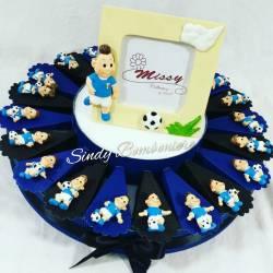 Torta bomboniera CALCIATORI calamita calcio INTER nascita battesimo comunione cresima compleanno RAGAZZO