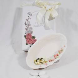 Svuotatasche in porcellana decorata con roselline MORENA