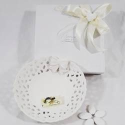 Ciotola in porcellana bianca con fiocco MORENA