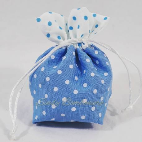 Sacchetto per il confezionamento di confetti FAI DA TE nascita battesimo maschietto