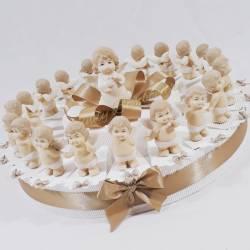 TORTA BOMBONIERA angioletti angeli per nascita battesimo bimba