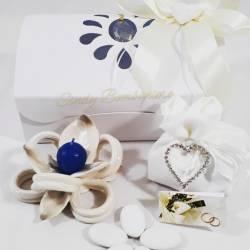 Fiore portacandele completamente in porcellana bianca e tortora LA DOCA LINEA TRESY