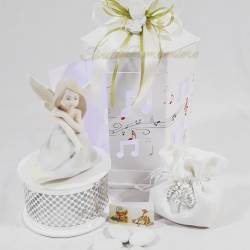 Fatina carillion in porcellana lavorata a mano per matrimonio cresima comunione LA DOCA LINEA ARMONY