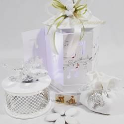 Farfalla in cristallo swarovski su scatola carillion  LA DOCA LINEA ARMONY
