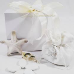 Bomboniera in porcellana stella marina per evento matrimonio cresima comunione LA DOCA LINEA CREY