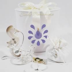 Portafoto clip cavalluccio marino in porcellana con corallo LA DOCA LINEA CREY
