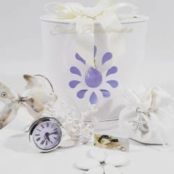 Orologio argentato con pesce in porcellana e corallo bianco LA DOCA LINEA CREY