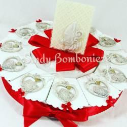 Bomboniere cresima torta con endenti cuore simboli cresima sacramento bimbo bimba CARLO PIGNATELLI cornice