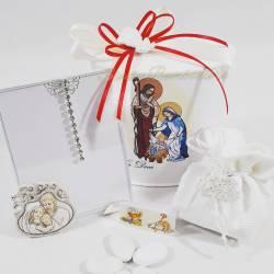 Portafoto con icona sacra raffigurante la sacra famiglia cresima comunione matrimonio LA DOCA LINEA SCIK