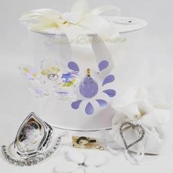 Fiore in cristallo swarovski con icona religiosa raffigurante la Maternità LA DOCA LINEA ENTRY