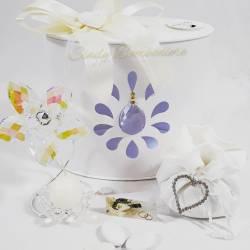 Portacandele a forma di fiore in cristallo swarovski LA DOCA LINEA ENTRY