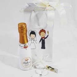 Idea regalo matrimonio anniversario alziera grande con fiore stabilizzato CUOREMATTO LINEA CUOR DI ROSA