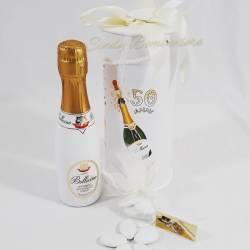 Bomboniera originale spumante in scatola made in italy nozze d'oro 50° anniversario o 50° compleanno LA DOCA LINEA IOBEY