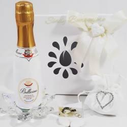 Bottiglia di spumante con piedistallo a forma di fiore in cristallo LA DOCA LINEA CANDLY