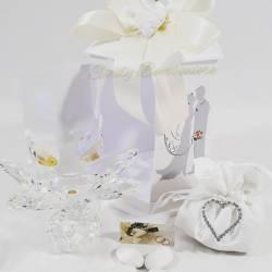 Candeliera porta candele fiore in cristallo swarovski LA DOCA LINEA CANDLY
