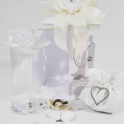Candeliere alto con fiore in swarovski LA DOCA LINEA CANDLY