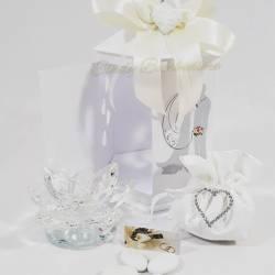 Bomboniera soprammobile matrimonio anniversario fiore portacandela in swarovski LA DOCA LINEA CANDLY