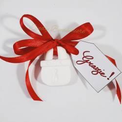 Segnaposto matrimonio 2 pezzi cuore lucchetto bigliettino grazie originali ed economici prezzi bassi