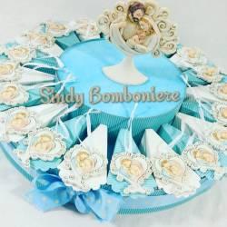 Bomboniere originale torta nascita battesimo compleanno bimbo sacra famiglia albero della vita cuore