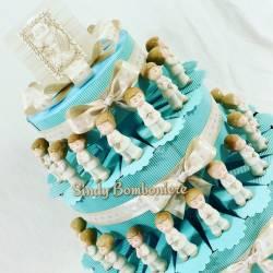 Bomboniere originale idee torte comunione BIMBO CARLO PIGNATELLI statuetta durante preghiera