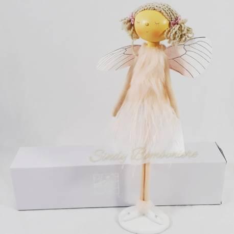 Bambola a forma di angioletto regalo per battesimo nascita comunione bambina AD EMOZIONI LINEA DOLLY