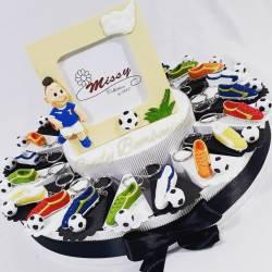 Bomboniere calcio scarpetta e pallone portafoto calciatore centrale