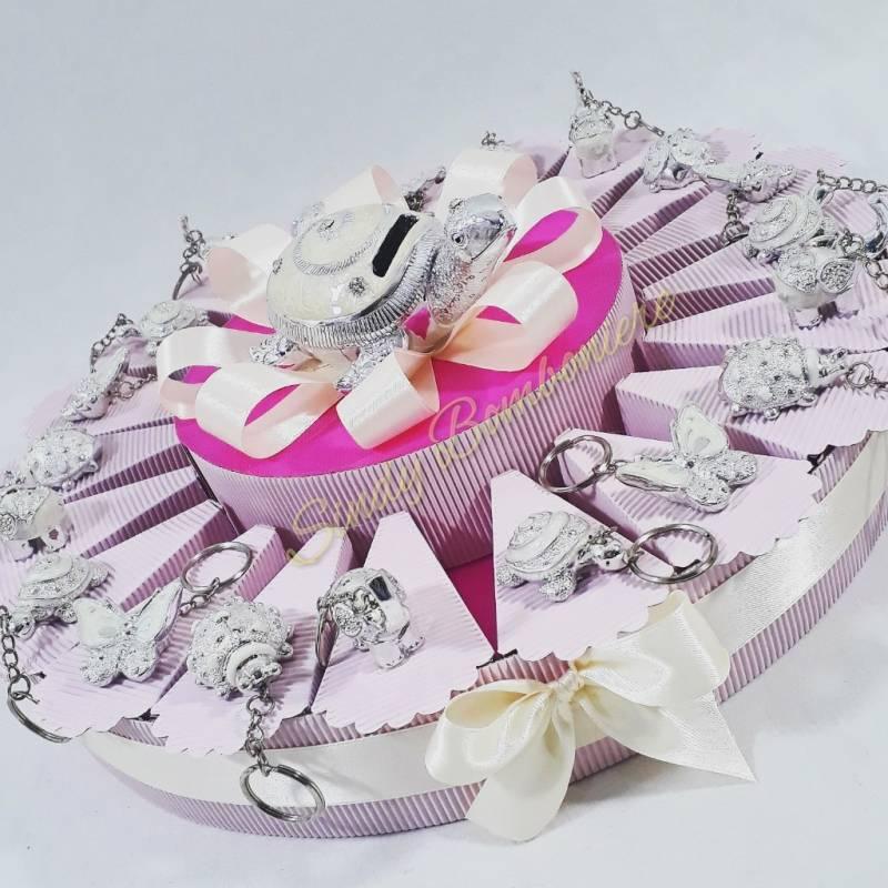 Idea torta bomboniera battesimo nascita bambina for Tartaruga prezzo